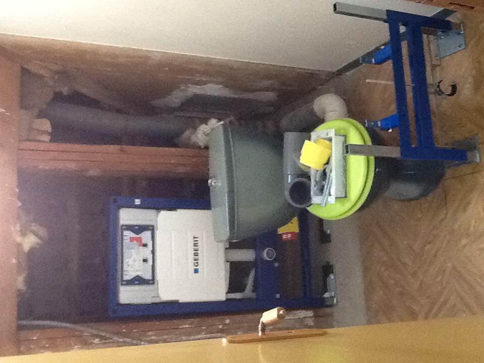 Pose geberit et bati support pour bidet en sous pente page 1 wc et wc suspendus plombiers - Comment retirer un bidet ...
