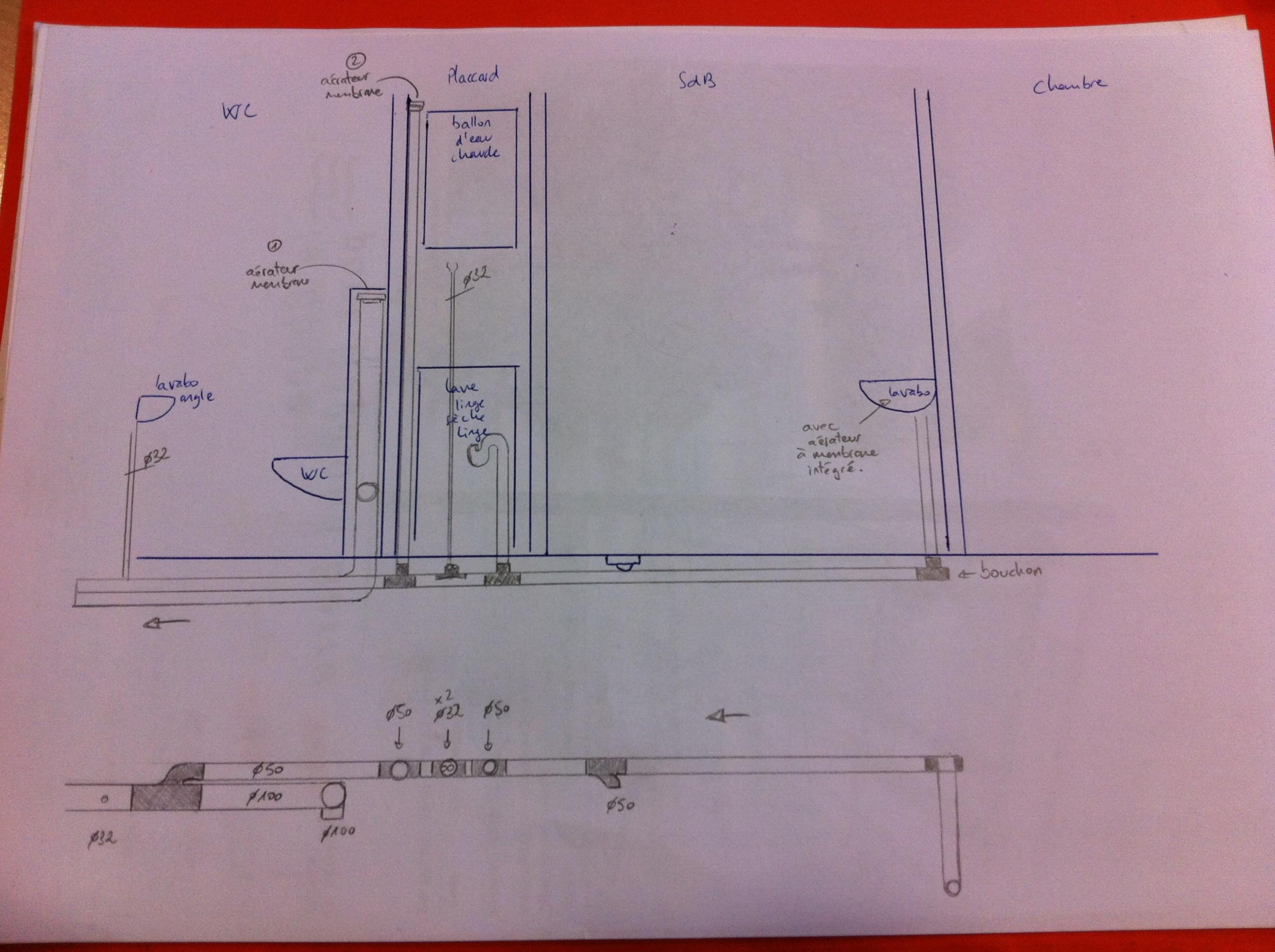 sch ma de principe evacuation eaux us es en rdc page 1 r seaux d 39 vacuations et ventillation. Black Bedroom Furniture Sets. Home Design Ideas