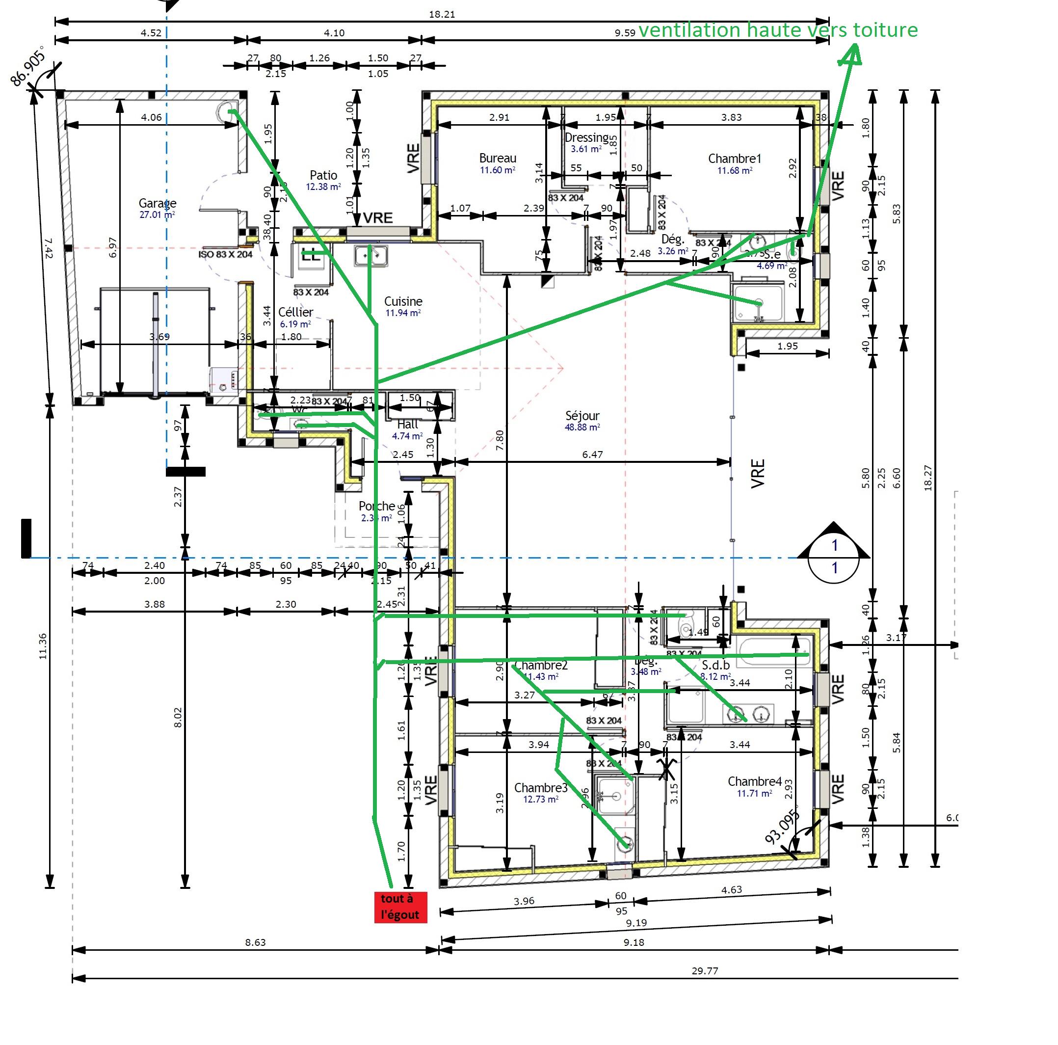 Plan D Evacuation Et Ventilation Page 1 Reseaux D Evacuations Et Ventillation Primaire Secondaire Plombiers Reunis
