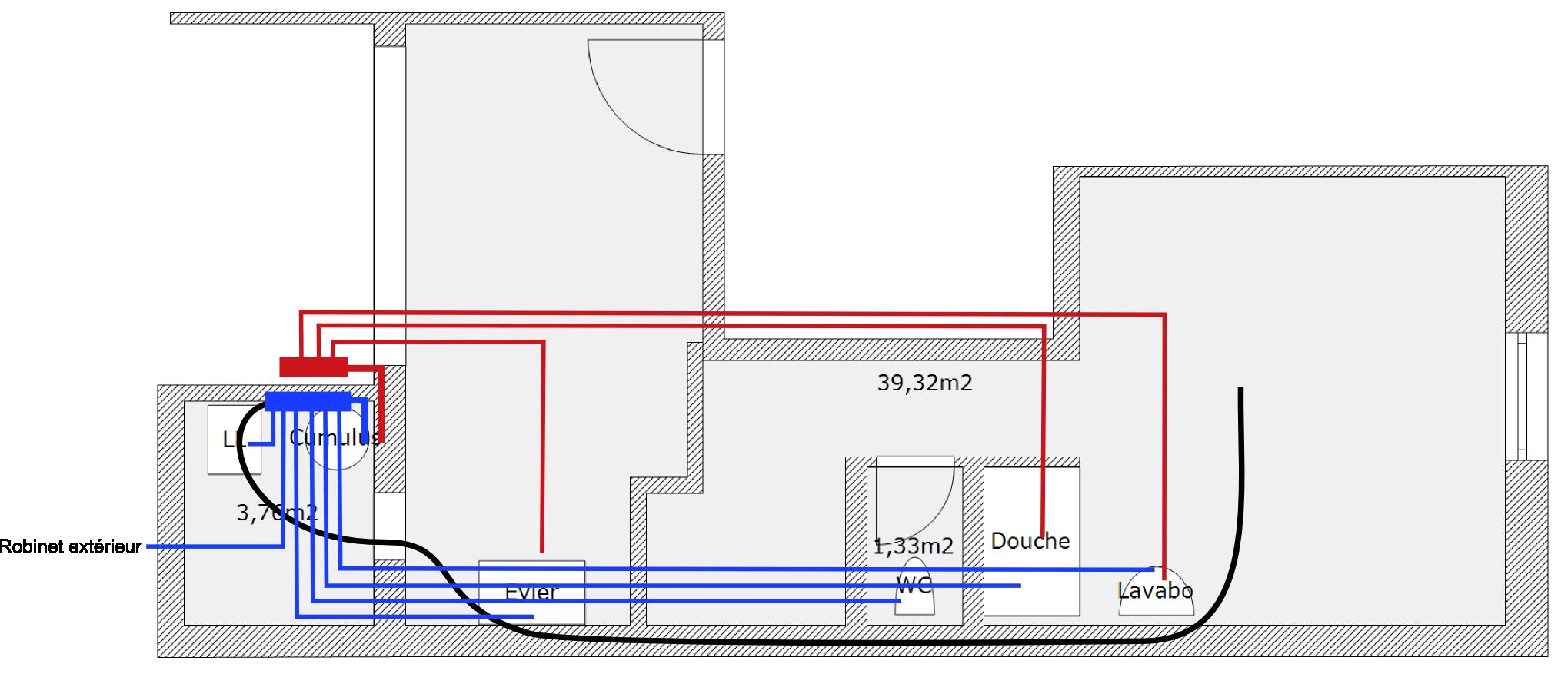 conseil distribution eau sanitaire page 1 r seaux de plomberie en per et multicouche. Black Bedroom Furniture Sets. Home Design Ideas