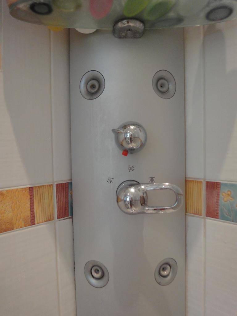 probl me de d montage de poign e du thermostat sur panneau de douche page 1 sp ciale salles. Black Bedroom Furniture Sets. Home Design Ideas